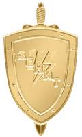 Золотой лацканный знак ОМСН «Зенит»