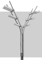 Двусторонний светодиодный уличный светильник для альпийской деревни «Шамони»